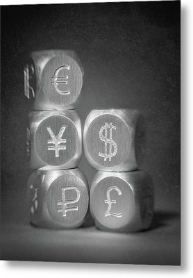 International Currency Symbols Metal Print by Tom Mc Nemar