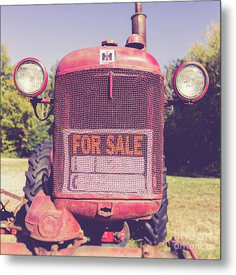 Metal Print featuring the photograph International Harvester Farmall Cub Vintage Tractor by Edward Fielding