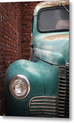Metal Print featuring the photograph International Truck 1 by Heidi Hermes