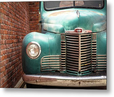 Metal Print featuring the photograph International Truck 2 by Heidi Hermes
