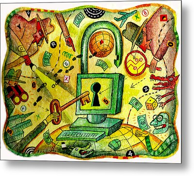 Internet Security And Hackers Metal Print