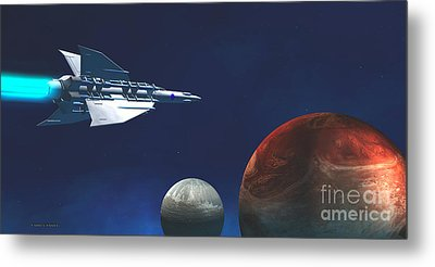 Interplanetary Travel Metal Print by Corey Ford