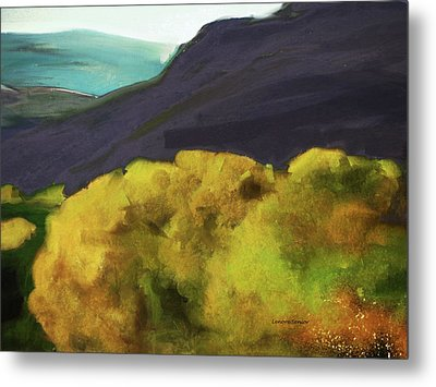 Interpretation Of Wyoming Autumn Metal Print