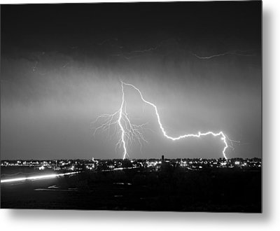 Intersection Black And White Metal Print by James BO  Insogna