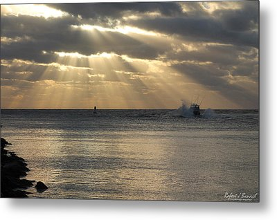 Into Dawn's Early Rays Metal Print by Robert Banach