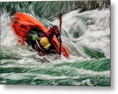 Metal Print featuring the photograph Into The Drink by Brad Allen Fine Art