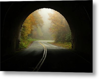 Into The Fall Blue Ridge Parkway North Carolina Metal Print by Terry DeLuco