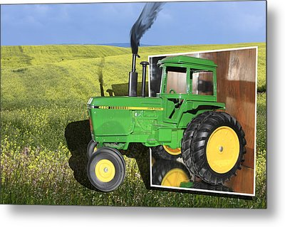 Into The Fields Metal Print by Shane Bechler
