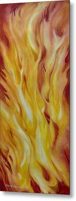 Into-the-fire-ii Metal Print by Nancy Newman