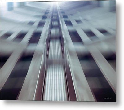 Into The Future Metal Print by Wim Lanclus