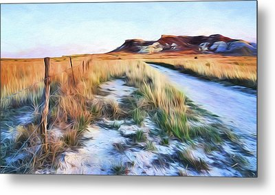 Metal Print featuring the digital art Into The Kansas Badlands by Tyler Findley