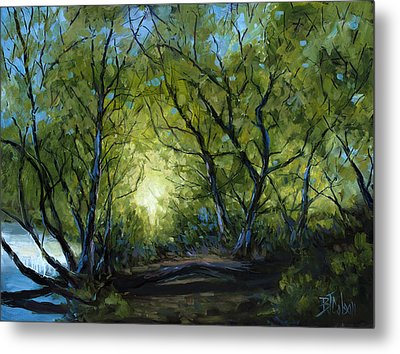 Metal Print featuring the painting Into The Light by Billie Colson