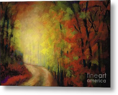 Into The Light Metal Print by Frances Marino