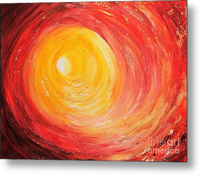 Metal Print featuring the painting Into The Light by Teresa Wegrzyn