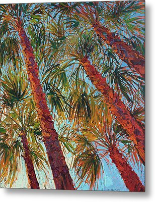 Into The Palms - Diptych Right Panel Metal Print by Erin Hanson