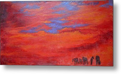 Into The Sunset Metal Print by Gabrielle England