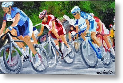 Into The Turn Metal Print by Michael Lee