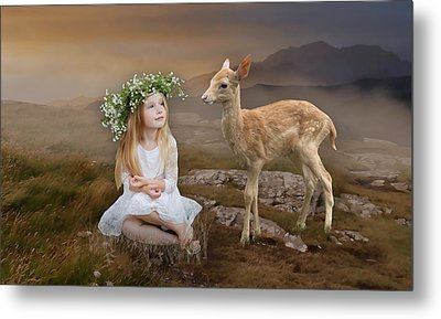 Metal Print featuring the mixed media Into The Wild by Marvin Blaine