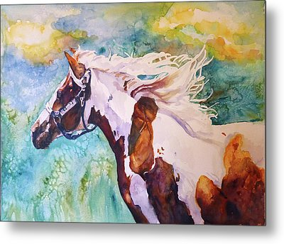 Into The Wind Metal Print by P Maure Bausch