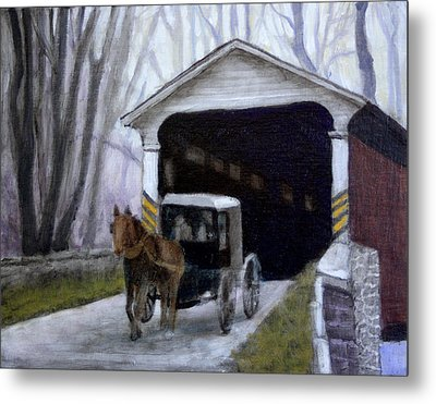 Into The Winter Woods Metal Print