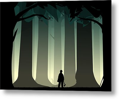 Into The Woods Metal Print by Nestor PS