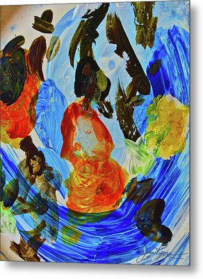Metal Print featuring the painting Intuitive Painting  215 by Joan Reese