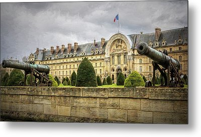 Invalides And Cannon Paris Metal Print