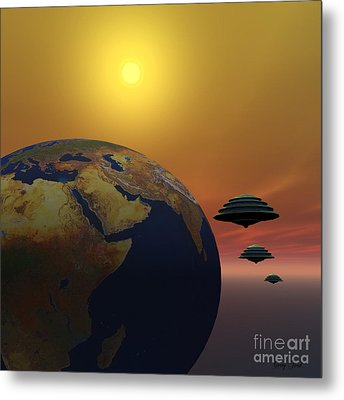 Invasion Metal Print by Corey Ford