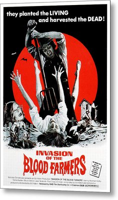 Invasion Of The Blood Farmers, Poster Metal Print