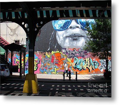 Metal Print featuring the photograph Inwood Street Art  by Cole Thompson