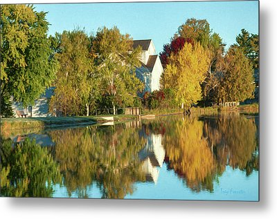 Iola Mill Fall View Metal Print