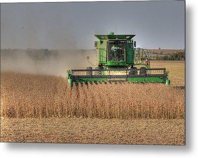 Iowa Soybean Harvest Metal Print