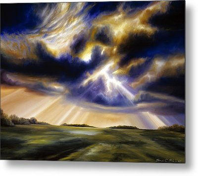 Iowa Storms Metal Print