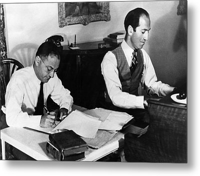 Ira And George Gershwin At Work Metal Print by Everett