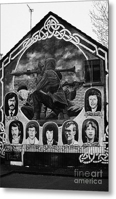 Ira Wall Mural Belfast Metal Print by Joe Fox