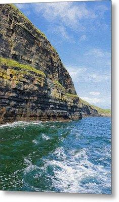 Ireland Cliffs Metal Print