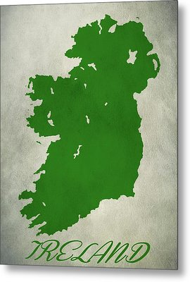Ireland Grunge Map Metal Print