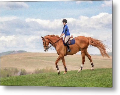 Metal Print featuring the photograph Irene And Boomer by Debby Herold