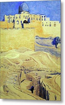 Irene P. Gardner Jerusalem  Metal Print by Munir Alawi