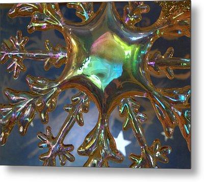 Iridescent Snowflake Metal Print