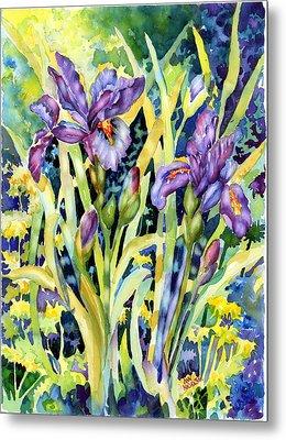 Iris Metal Print by Ann  Nicholson