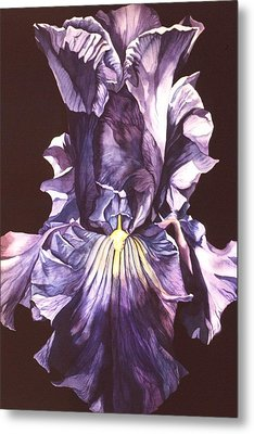 Metal Print featuring the painting Iris At Night by Alfred Ng