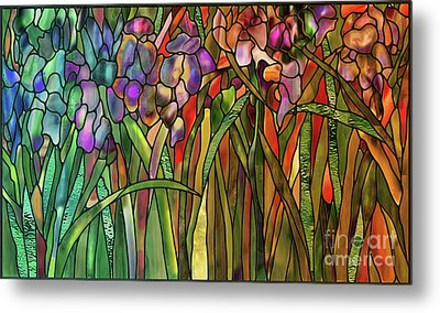 Iris Coloring Book Metal Print by Mindy Sommers
