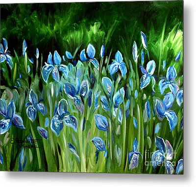 Iris Galore Metal Print