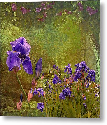Iris Garden Metal Print by Jeff Burgess