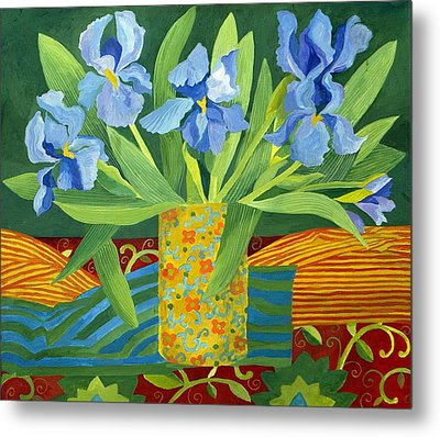 Iris Metal Print by Jennifer Abbot
