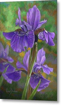Irises Metal Print by Lucie Bilodeau