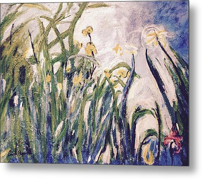 Metal Print featuring the painting Irises Revisited by Cynthia Morgan