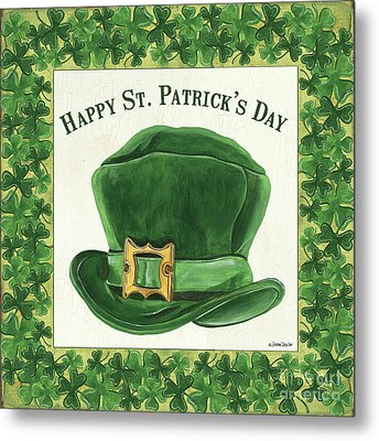 Metal Print featuring the painting Irish Cap by Debbie DeWitt