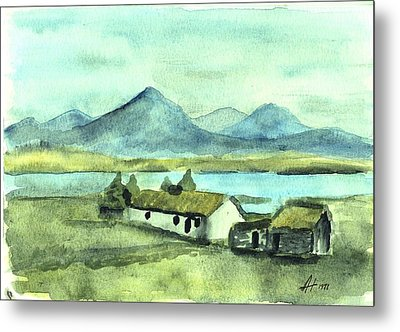 Irish Cottage Metal Print by Alan Hogan